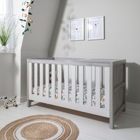 Tutti Bambini Modena Cot Bed-Grey Ash and White - Furniture Gifts