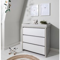 Tutti Bambini Modena Chest Changer-Ash Grey and White - Furniture Gifts