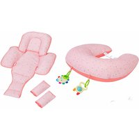 ClevaMama ClevaCushion 10in1 Nursing Pillow-Coral