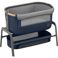 Maxi-Cosi Iora Co-Sleeper Crib-Essential Blue + 2 Free Organic Fitted Sheets