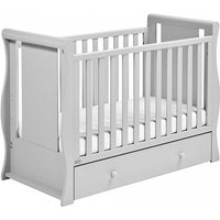 East Coast Nebraska Sleigh With Drawer Cot2bed-Grey - Furniture Gifts