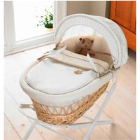 IzziWotNot Light/Natural Wicker Moses Basket-Cream Gift