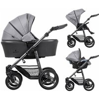 Venicci Carbo Lux Graphite Chassis 3in1 Travel System-Natural Grey