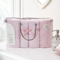 Clair De Lune 4 Piece Bale Bedding Set-Pink - Bedding Gifts