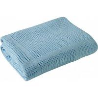 Clair De Lune Cellular Pram Blanket- Blue