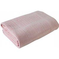 Clair De Lune Cellular Pram Blanket- Pink - Blanket Gifts