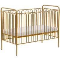 Kidsaw Kudl Kids Vintage Metal Baby Cot-Gold - Furniture Gifts