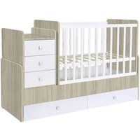 Kidsaw Kudl Simple Collection Cot Bed- Elm White - Furniture Gifts