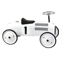 Vilac Classic Ride On Metal Car- Polar White - Ride On Gifts