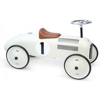 Vilac Classic Ride On Metal Car- Off White - Ride On Gifts
