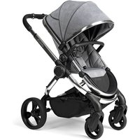 iCandy Peach Chrome Stroller + Maxi Cosi Cabriofix 0+ Car Seat-Light Grey Check (New 2020)