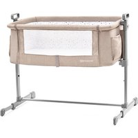 Kinderkraft Neste Bedside Travel Baby Cot-Beige - Travel Gifts