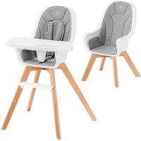 Kinderkraft Tixi 2in1 High Baby Feeding Chair-Grey - Baby Gifts