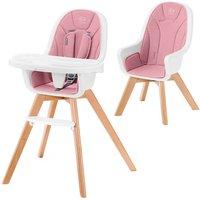 Kinderkraft Tixi 2in1 High Baby Feeding Chair-Pink