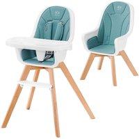 Kinderkraft Tixi 2in1 High Baby Feeding Chair-Turquoise - Baby Gifts