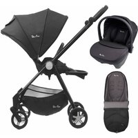 Silver Cross Spirit 2in1 Travel System and Matching Footmuff-Onyx (EXCLUSIVE)