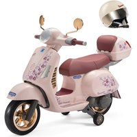 Peg Perego Electric Ride On Bike & Helmet- Rose Gold - Ride On Gifts