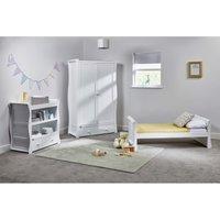 East Coast Nebraska Toddler Bed 3 Piece Room set-White - Toddler Gifts
