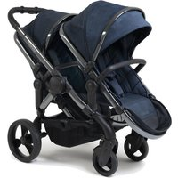 iCandy Peach Double Pushchair-Phantom/Navy Check (New 2020)