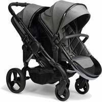 iCandy Peach Double Pushchair-Phantom/Dark Grey Twill (New 2020)