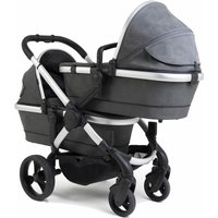 iCandy Peach Twin Pushchair-Satin/Dark Grey Check (New 2020)