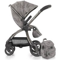 egg® Special Edition Stroller With Changing Bag and Seat Liner-Camo Grey