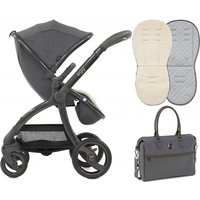 egg® Special Edition Stroller With Changing Bag and Seat Liner-Quantum Grey