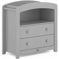 Boori Curved 2 Drawer Chest Changer-Pebble (2021) - Furniture Gifts