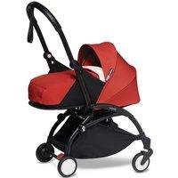BABYZEN YOYO 2 Black Frame Newborn Package-Sherpa Red (New)