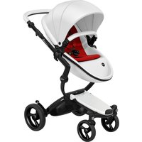 Mima Xari Single Pushchair with Black Chassis-Snow White/Ruby Red