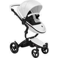 Mima Xari Single Pushchair with Black Chassis-Snow White/Pure Black
