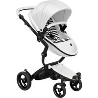 Mima Xari Single Pushchair with Black Chassis-Snow White/BlackandWhite