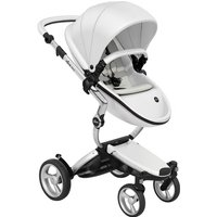 Mima Xari Single Pushchair with Aluminium Chassis-Snow White/Stone White