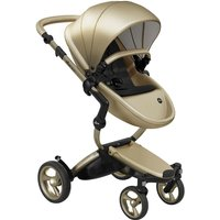 Mima Xari Single Pushchair with Champagne Chassis-Champagne/Pure Black