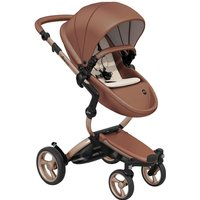 Mima Xari Single Pushchair with Rose Gold Chassis-Camel/Sandy Beige