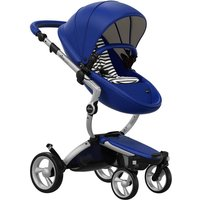 Mima Xari Single Pushchair with Aluminium Chassis-Blue/BlackandWhite