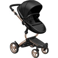Mima Xari Single Pushchair with Rose Gold Chassis-Black/Black