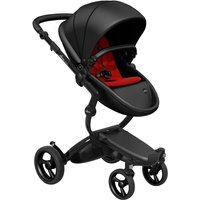 Mima Xari Single Pushchair with Black Chassis-Black/Ruby Red