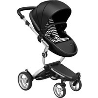 Mima Xari Single Pushchair with Aluminium Chassis-Black/BlackandWhite