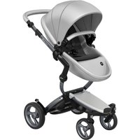 Mima Xari Single Pushchair with Graphite Chassis-Argento/Pure Black