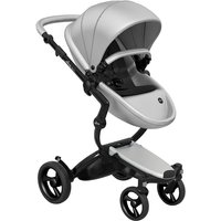 Mima Xari Single Pushchair with Black Chassis-Argento/Pure Black