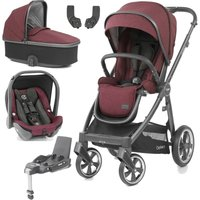 BabyStyle Oyster 3 City Grey Finish Essential Capsule Travel System-Berry
