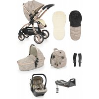 egg Luxury 3in1 Shell Travel System with ISOFIX Base-Camo Sand (NEW)