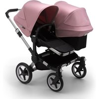 Bugaboo Donkey 3 Duo Pushchair-Aluminium/Black-Soft Pink