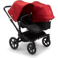 Bugaboo Donkey 3 Duo Pushchair-Black/Black-Red