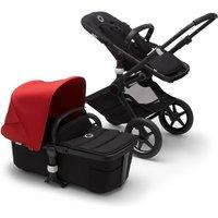 Bugaboo Fox2 Complete Pushchair-Black/Black-Red