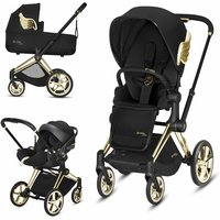 Cybex Priam Jeremy Scott Edition Gold Chassis Cloud Z Travel System-Wings/Black