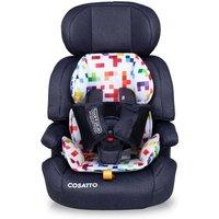 Cosatto Zoomi ( 5 Point Plus) 1/2/3 Car Seat-Light Pixelate