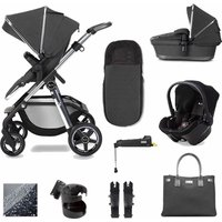 Silver Cross Pioneer 11 Piece Simplicity Plus and Isofix Base Bundle-Clay (2020)