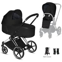 Cybex Priam Chrome Pushchair with Lux Carry Cot-Stardust Black/Black (2020)